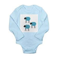Sheep Fight Club Long Sleeve Infant Bodysuit