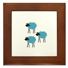 Sheep Fight Club Framed Tile