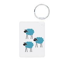 Sheep Fight Club Keychains