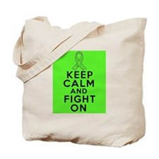 Lymphoma Keep Calm Fight On Tote Bag
