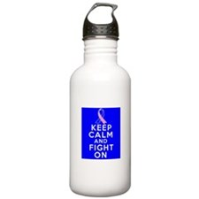 Male Breast Cancer Keep Calm Fight On Water Bottle