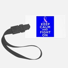 Male Breast Cancer Keep Calm Fight On Luggage Tag