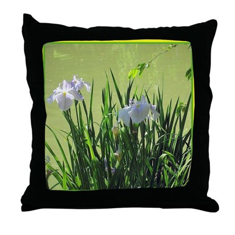 Japanese Iris 2 Throw Pillow