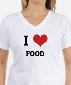 I Love Food Ash Grey T-Shirt