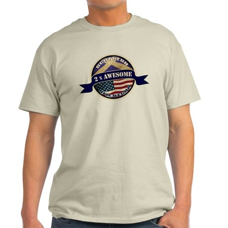 Scottish American 2x Awesome Light T-Shirt