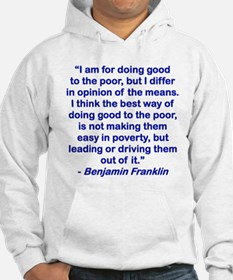 I AM FOR DOING GOOD TO THE POOR....png Hoodie