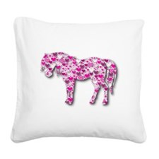 HEARTHORSE - Pink Square Canvas Pillow