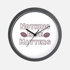 Football Nothing Else Matters Wall Clock