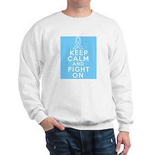 Prostate Cancer Keep Calm Fight On Sweatshirt