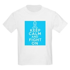 Prostate Cancer Keep Calm Fight On T-Shirt