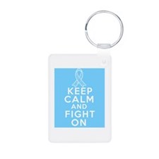 Prostate Cancer Keep Calm Fight On Keychains