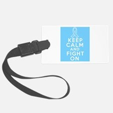 Prostate Cancer Keep Calm Fight On Luggage Tag
