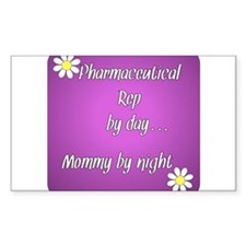 Pharmaceutical Rep by day Mommy by night Decal
