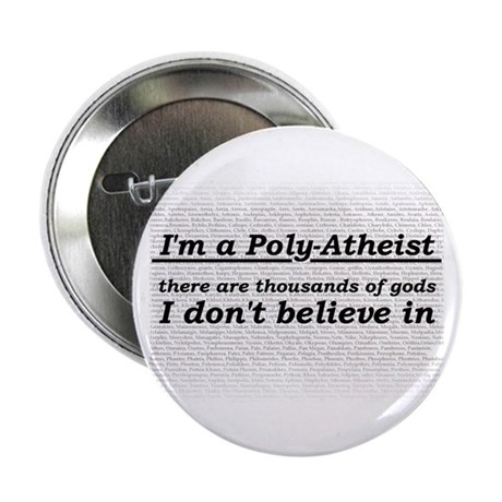 """Poly-Atheist 2.25"""" Button (10 pack)"""