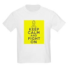 Testicular Cancer Keep Calm Fight On T-Shirt