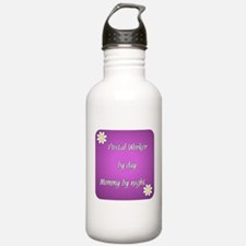 Postal Worker by day Mommy by night Water Bottle