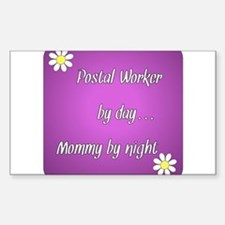 Postal Worker by day Mommy by night Decal
