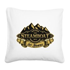 Steamboat 50th Anniversary Square Canvas Pillow