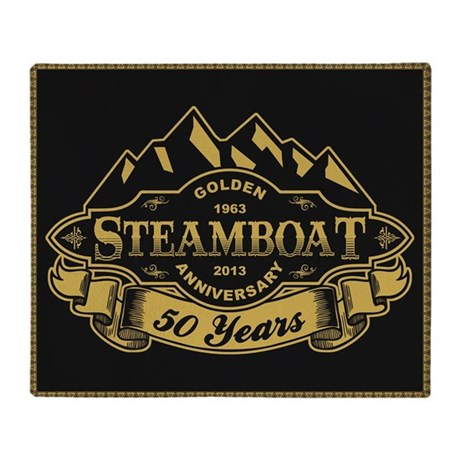 Steamboat 50th Anniversary Throw Blanket