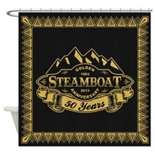 Steamboat 50th Anniversary Shower Curtain