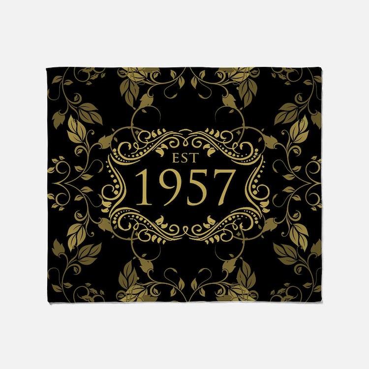 Established 1957 Throw Blanket