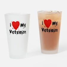 Splochy Love Veteran BLK.png Drinking Glass
