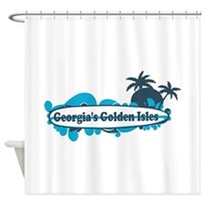 Golden Isles GA - Surf Design. Shower Curtain