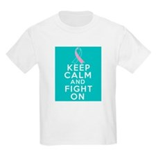 Hereditary Breast Cancer Keep Calm Fight On T-Shirt