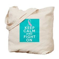 Hereditary Breast Cancer Keep Calm Fight On Tote B