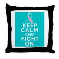 Hereditary Breast Cancer Keep Calm Fight On Throw