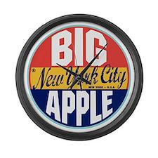 New York Vintage Label Large Wall Clock
