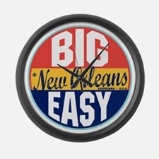 New Orleans Vintage Label Large Wall Clock