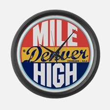 Denver Vintage Label Large Wall Clock