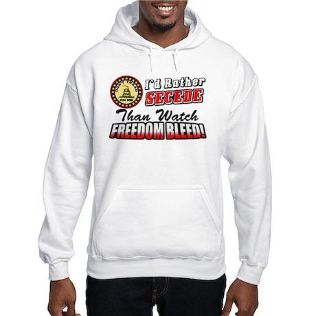 """I'd Rather Secede"" Hooded Sweatshirt"