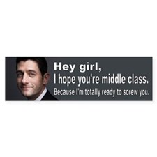 Paul Ryan: Hey girl Bumper Sticker