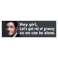 Paul Ryan: Hey girl Bumper Sticker