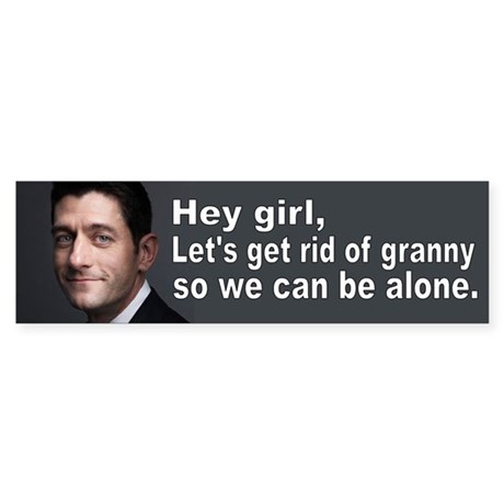 Paul Ryan: Hey girl Sticker (Bumper)