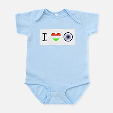 I love India - Flag Infant Bodysuit