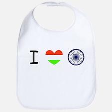 I love India - Flag Bib