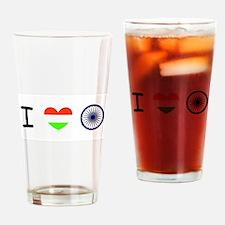 I love India - Flag Drinking Glass