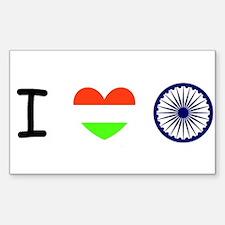 I love India - Flag Decal