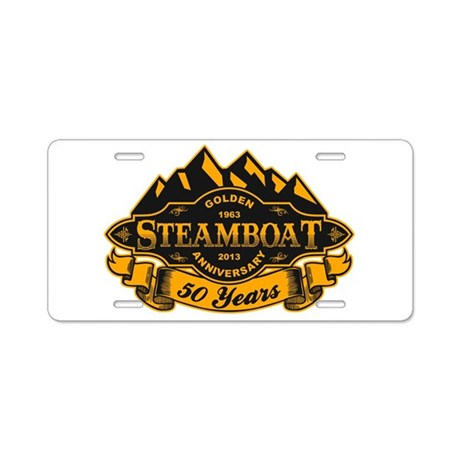 Steamboat 50th Anniversary Aluminum License Plate
