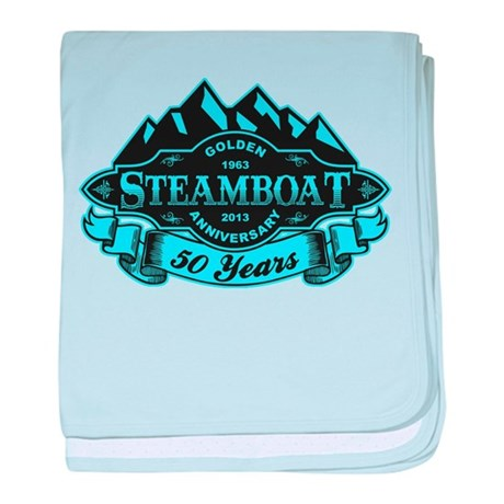 Steamboat 50th Anniversary baby blanket