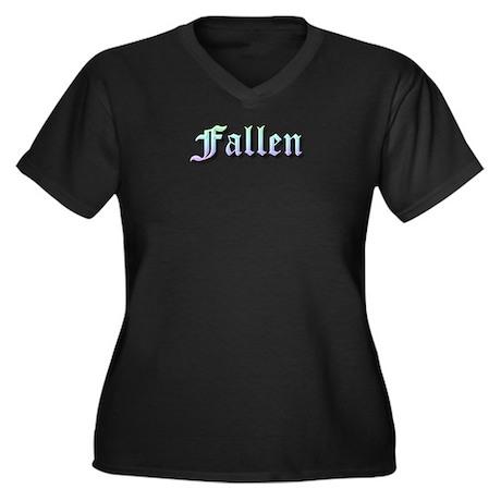 Fallen Rainbow with Wings Women's Dark T-Shirt
