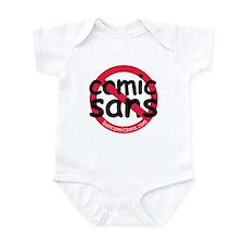 No Comic Sans Infant Creeper