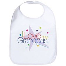 """I Love My Grandpas"" Bib"