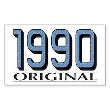 1990 Original Rectangle Decal