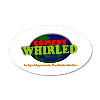 Comedy Whirled Ware 35x21 Oval Wall Decal