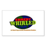 Comedy Whirled Ware Sticker (Rectangle 10 pk)