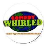 Comedy Whirled Ware Round Car Magnet